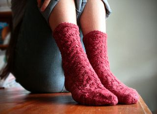 Whisper-socks-red-sitting
