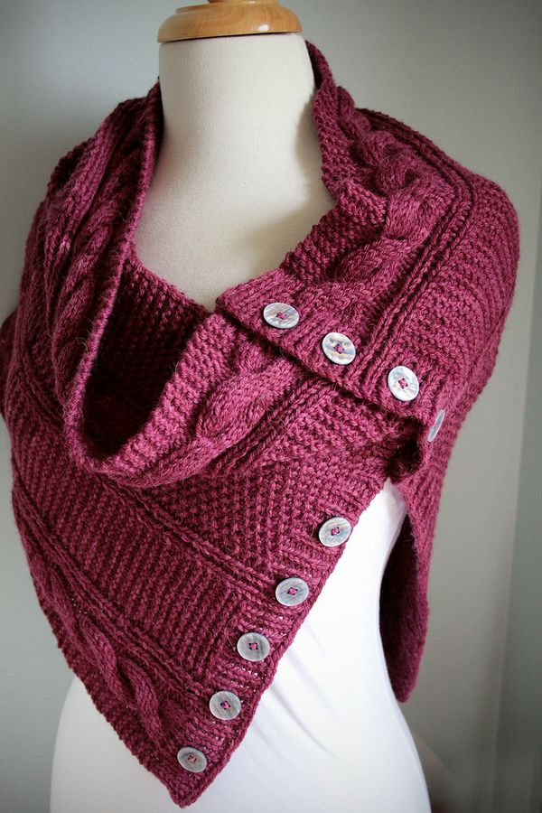 Pashmina Cowl Knitting Pattern : Lush Yarn : Jindabyne Cowl